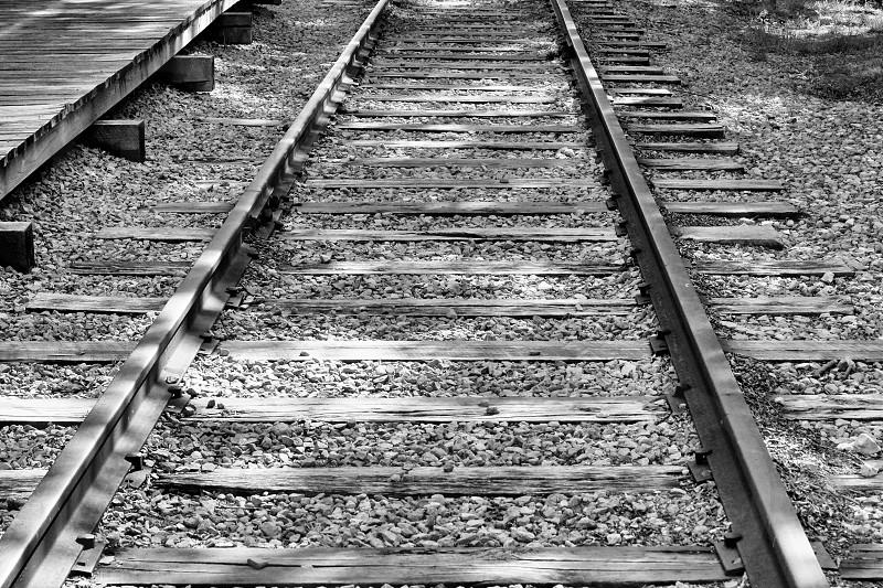 view of metal railroad photo