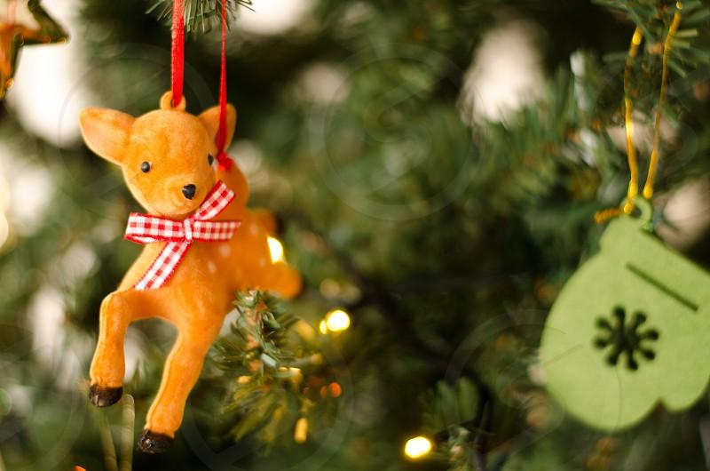 Christmas Christmas tree decorations felt reindeer sparkle handmade crafts original quirky xmas photo