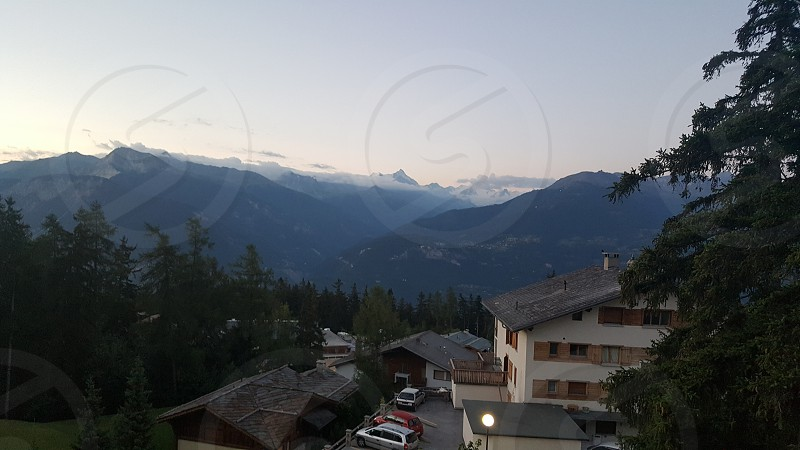 Crans-Montana Switzerland Swiss Alps Mountains  adventure trip  europe  morning photo