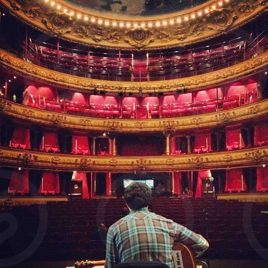 Södra Teatern in Stockholm Sweden. Venues the touring musician's ever changing office.  photo