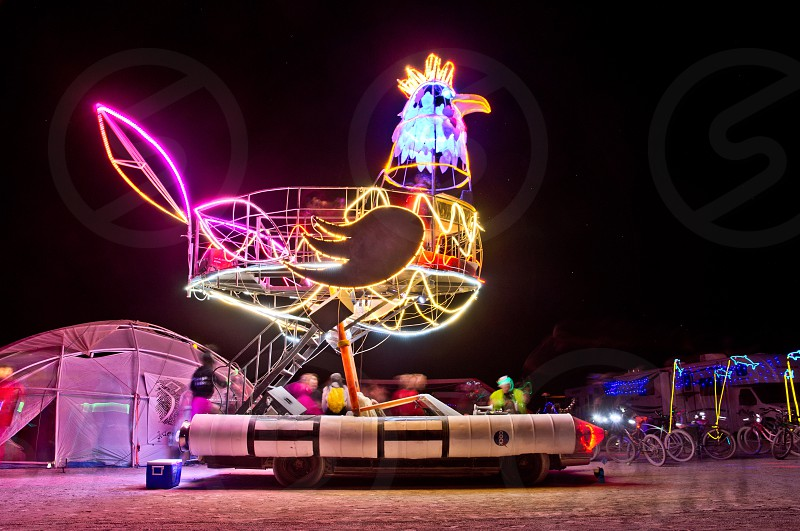 Rockin' Rooster car at Burning Man photo