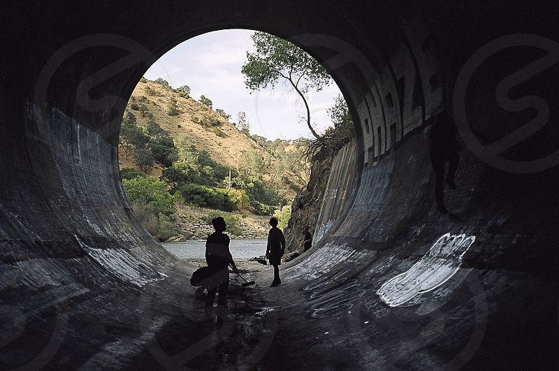 Prepping a full pipe to skate. photo