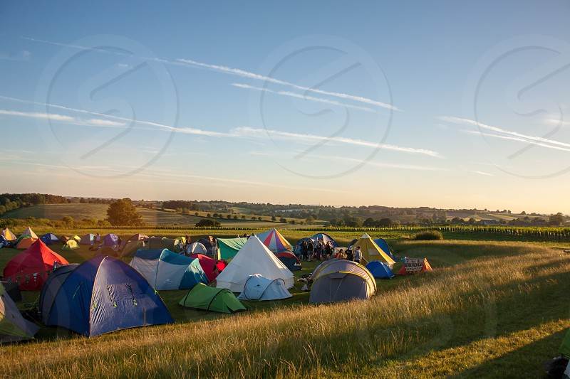 Summer music festivals in England. photo