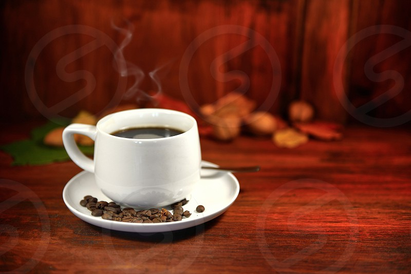 Steaming coffee is waiting photo