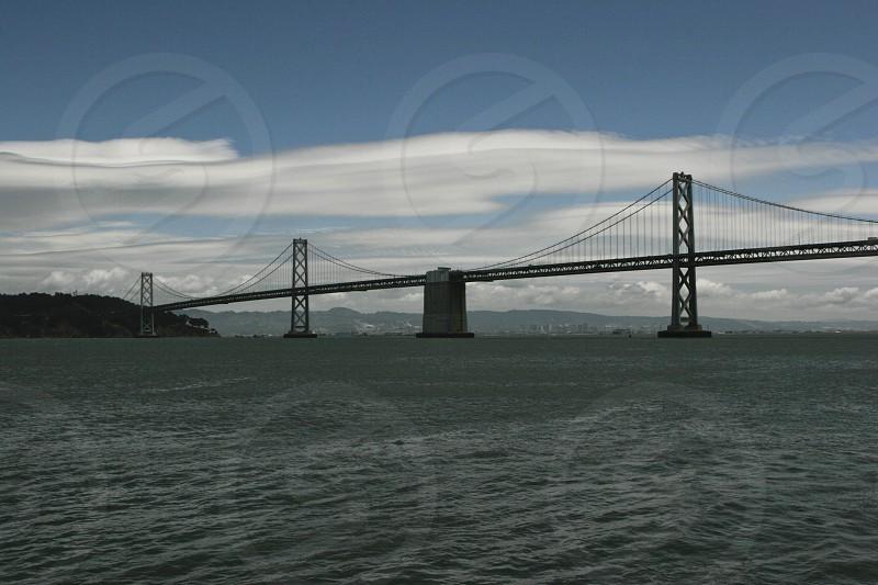 Beautiful view of San Francisco Bay Bridge photo