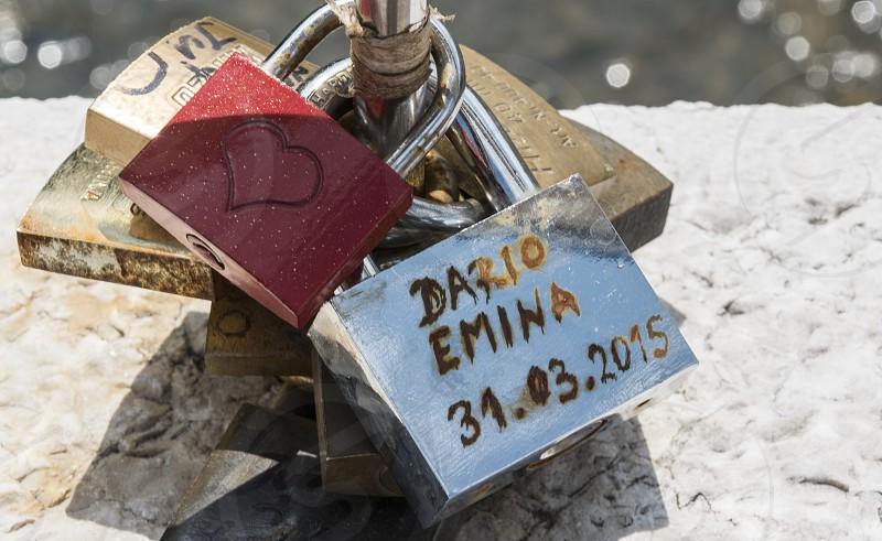 Love padlocks photo