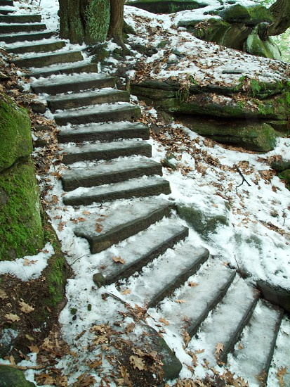Snow. Stairs. Staircase. Pattern. Winter. photo