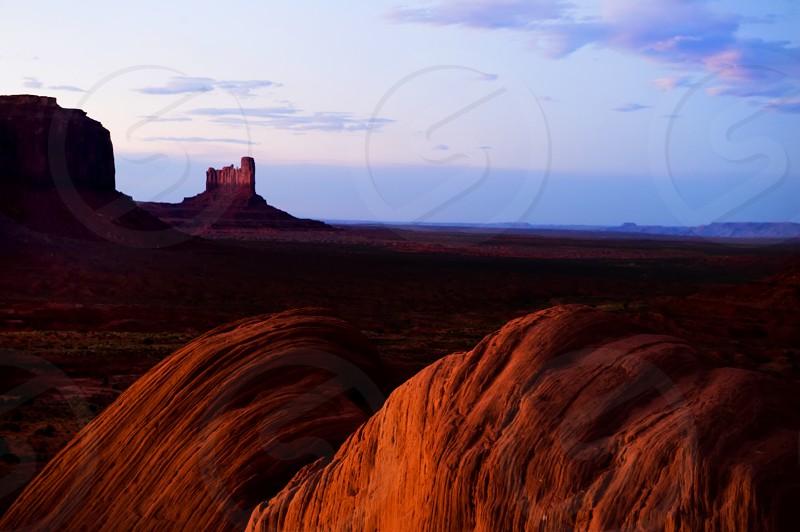 monument valley landscape nature big sky west Utah photo