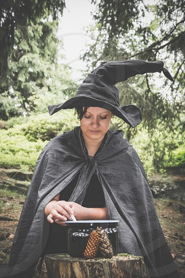 witch with saucepan photo