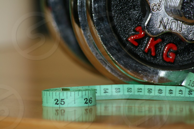 fitness weight size numbers photo