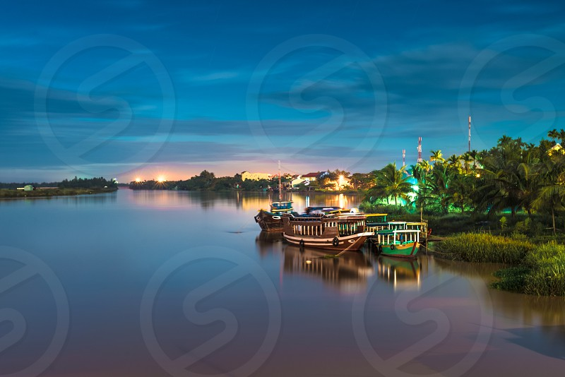 Hoai river Hoi An Vietnam photo