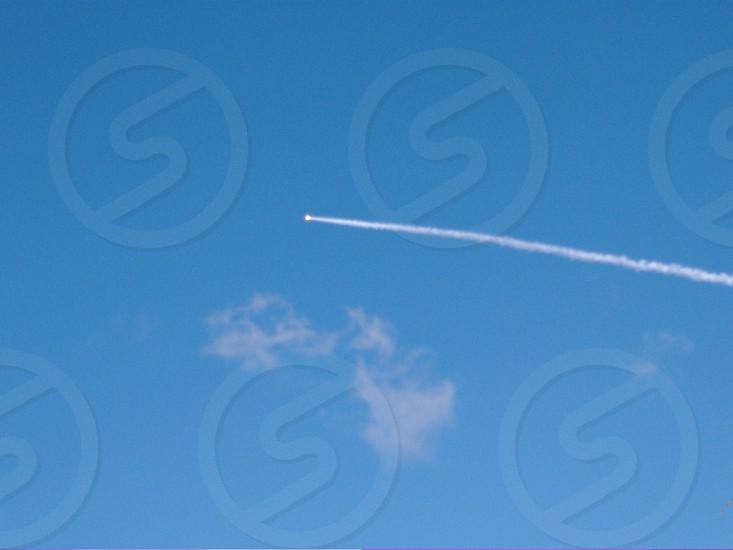 jet line on sky photo