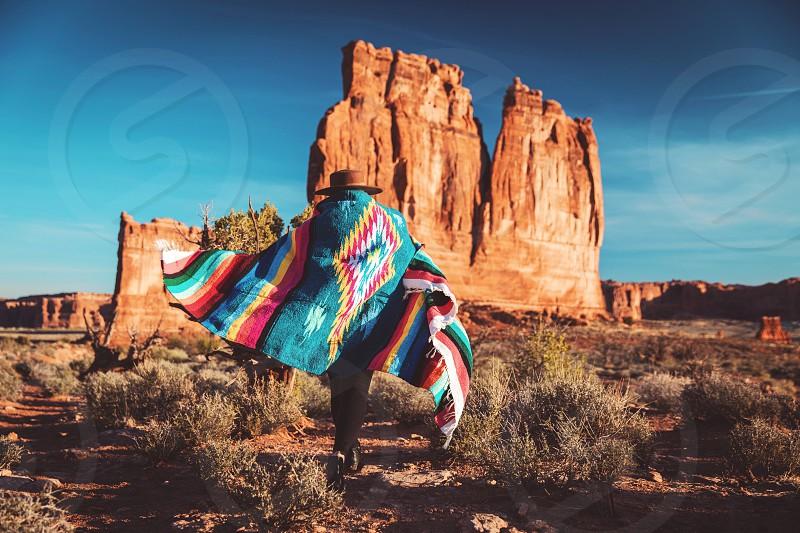 Utah girl colors adventure travel beauty landscape  photo
