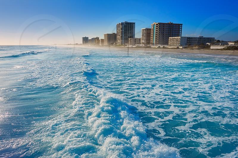Daytona Beach in Florida shore buildings of USA photo