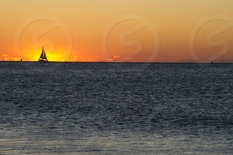 Set Sails at Dawn. Off the New Jersey coast photo