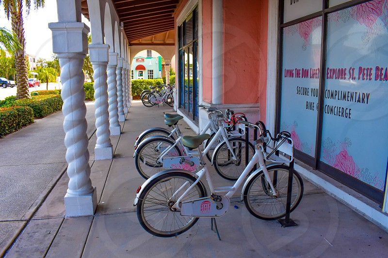 St. Pete Beach Florida. January 25 2019. Bike's for rental in The Don Cesar Hotel. photo