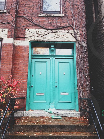 pretty colored doors  photo