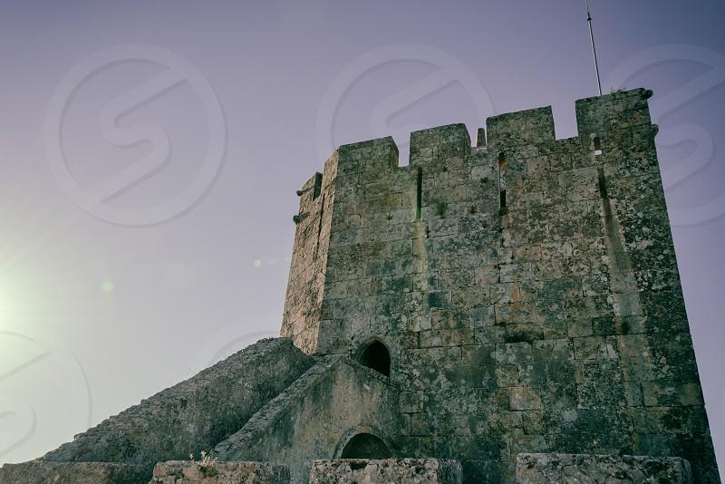 Ancient castle in Lisbon (Portugal) photo