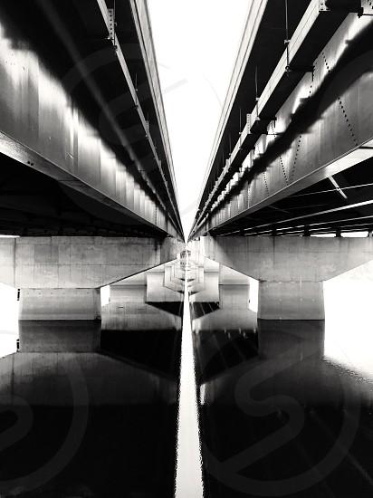 Underbelly of bridges photo