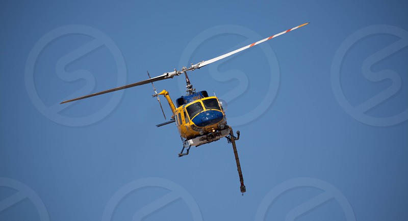 fire helicopter fighting a bush fire photo