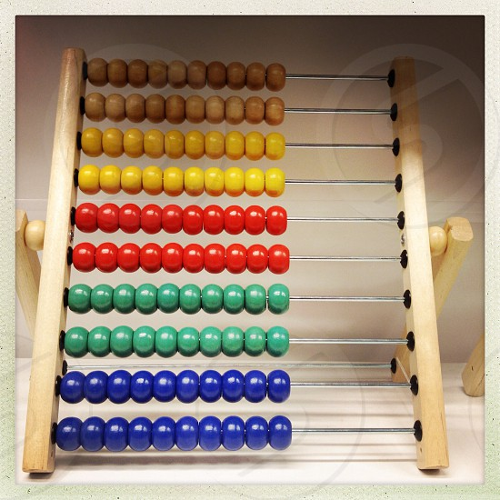 brown wooden abacus photo