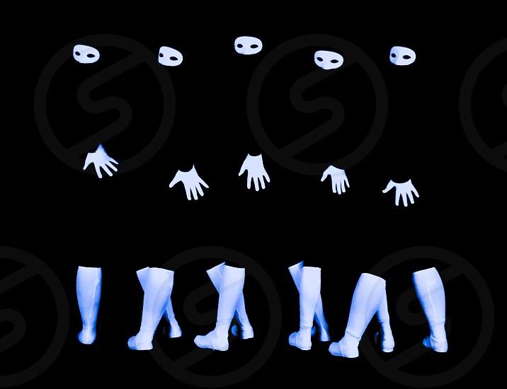Five Dancers Black and White photo