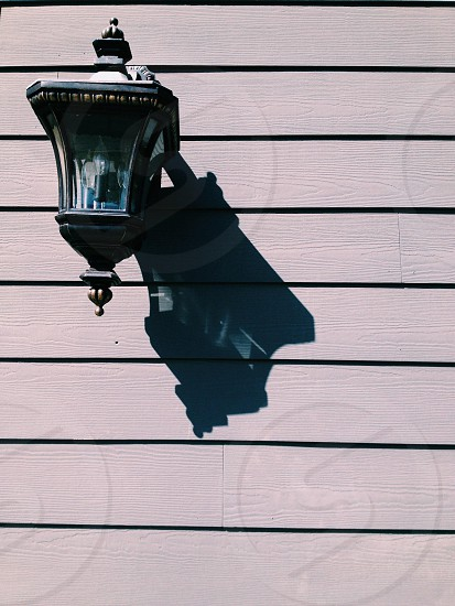 black wall mounted outdoor scone photo