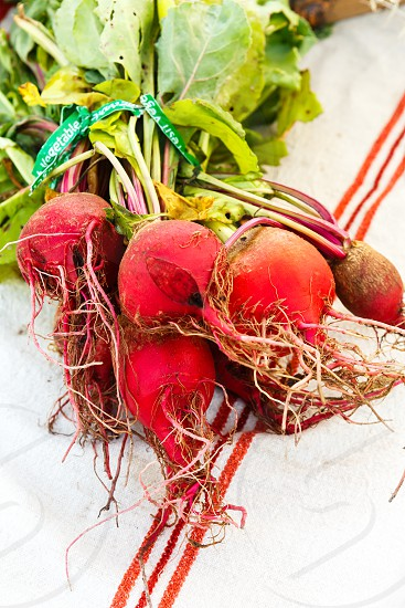 Beets at a local farmers market photo