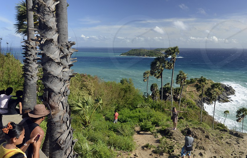 the view Point of Laem Promthep near Rawai Beach in the south on the Phuket Island in the south of Thailand in Southeastasia. photo