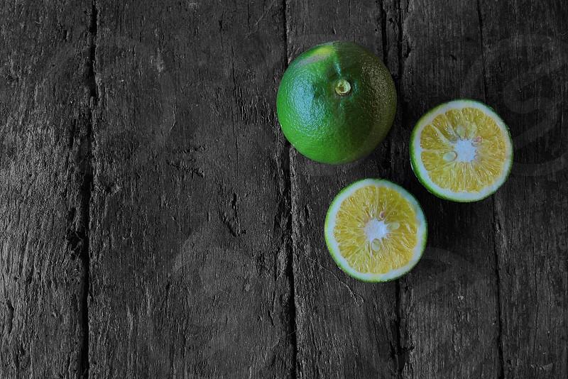 green lemon fruit photo