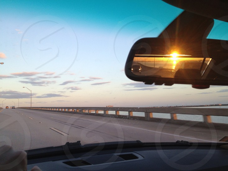 Rear view sunset Florida  photo