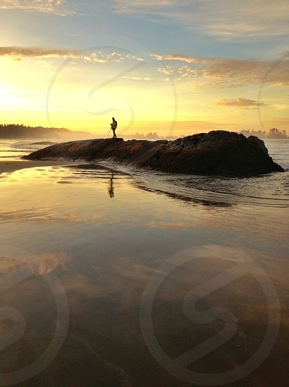 Sunrise Pacific Northwest Tofino beach reflection photo