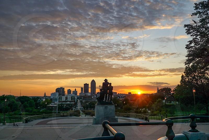 Iowa Des Moines trip skyline downtown  photo
