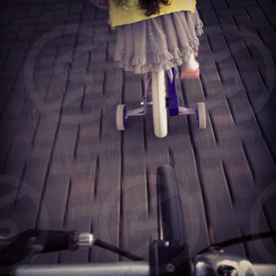 Cycling. Children.  photo