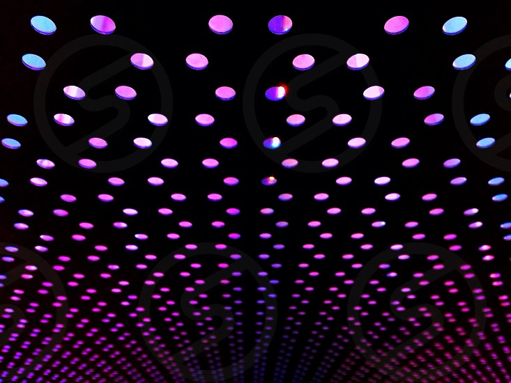purple teal and pink polka dots photo