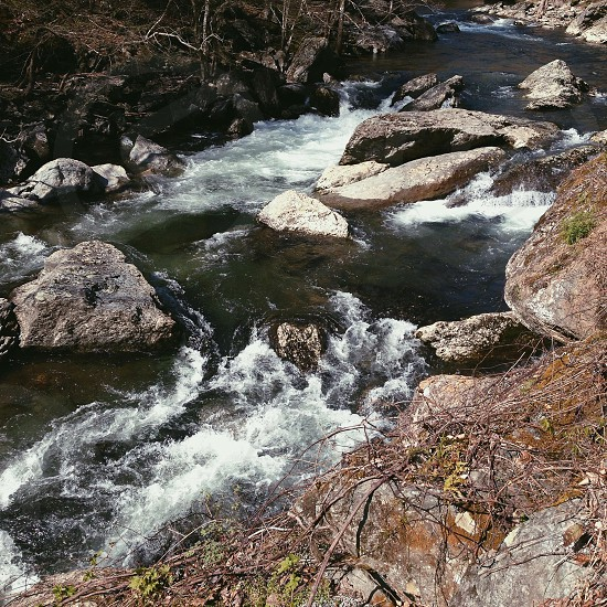 river with rocks photo