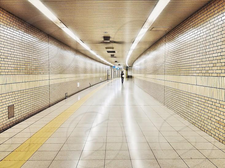 subway corridor photo