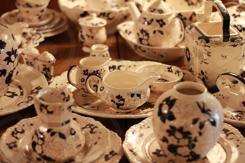 Vintage Antique Tea Set photo