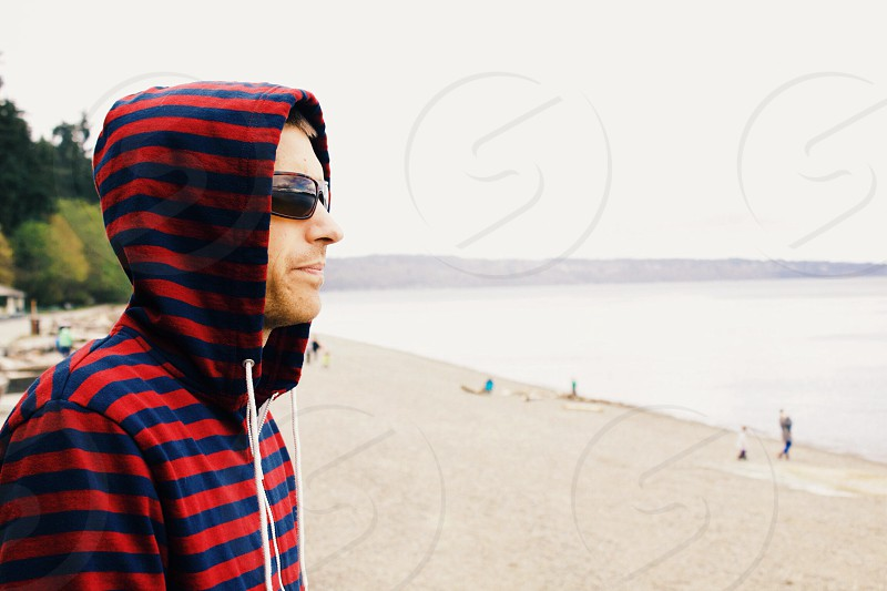Hooded for deep thoughts. photo