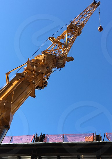 Crain construction blue skies photo