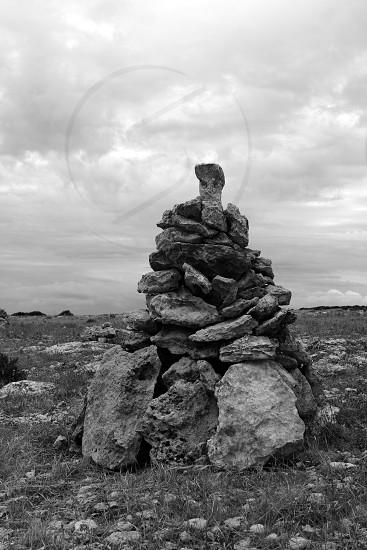 Desire stones to make a wish the wind will bring it Formentera island photo
