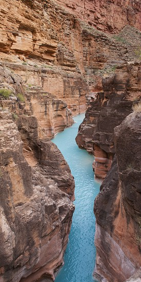 Havasu Creek Grand Canyon water blue stream creek scenic landscape canyon  photo