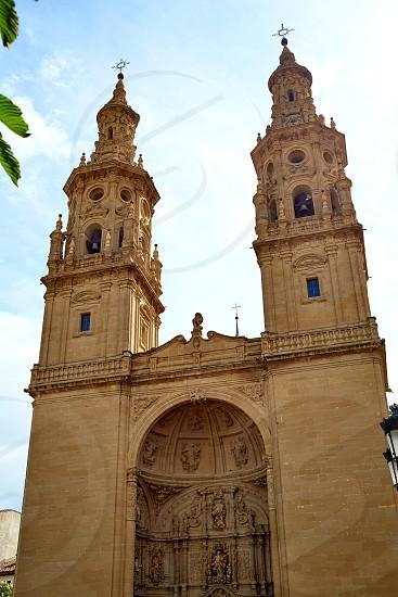 Logrono Cathedral of Santa Maria la Redonda in La Rioja way of saint james photo