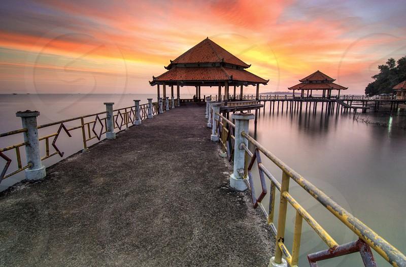 sunset travel photo