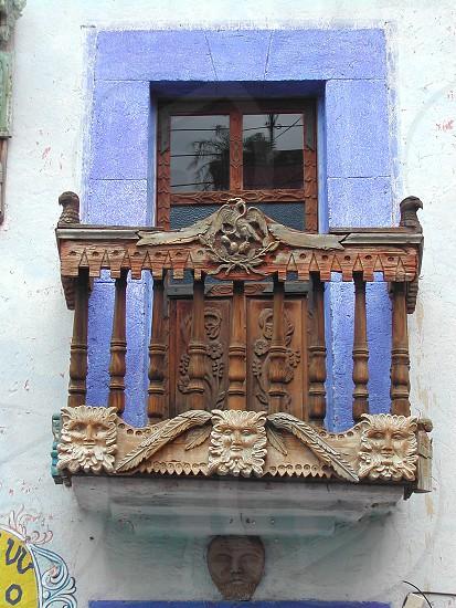 ornate balcony in Guanojuato Mexico photo
