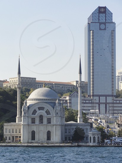East meets West on the banks of the Bosphorus Istanbul photo