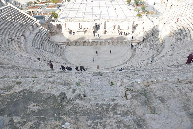 Amman amphitheater ruins  photo