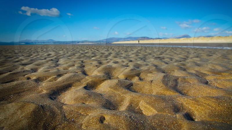 Low down beach POV photo