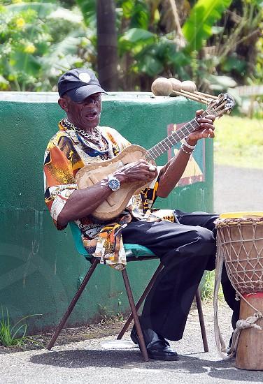 Local musician - Grenada - Caribbean island - Grand Etang National Park photo