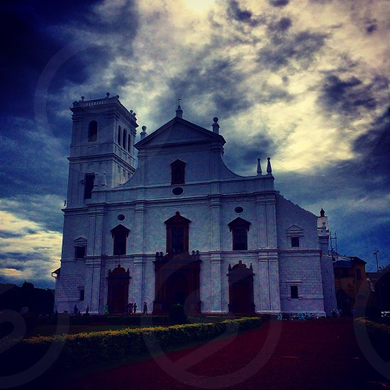 Colonial church in Goa photo